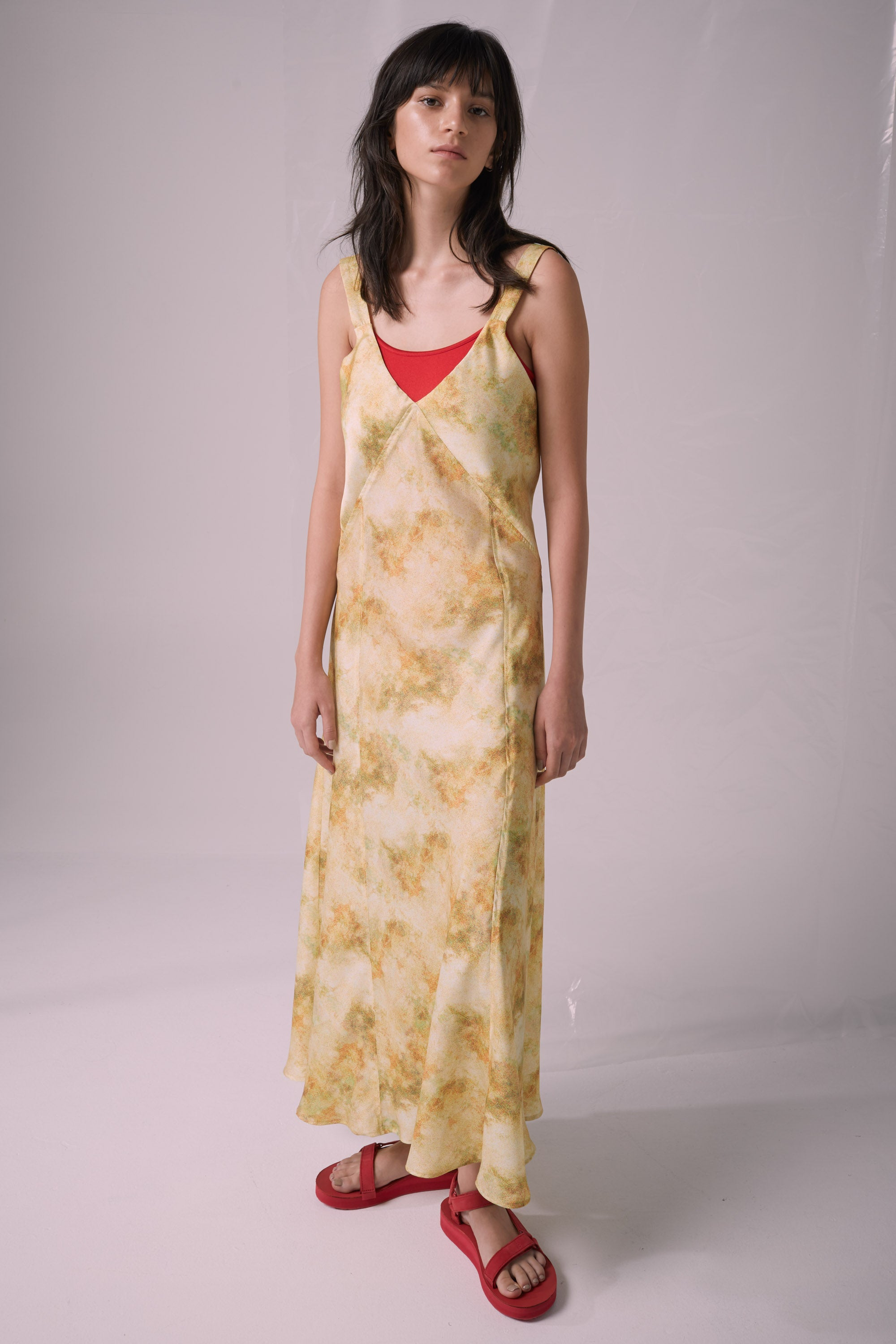 Ricochet NZ Fashion Designer Clothing Boutique SS19  Made in NZ Atmosphere Dress Fuzzy Cloud Print