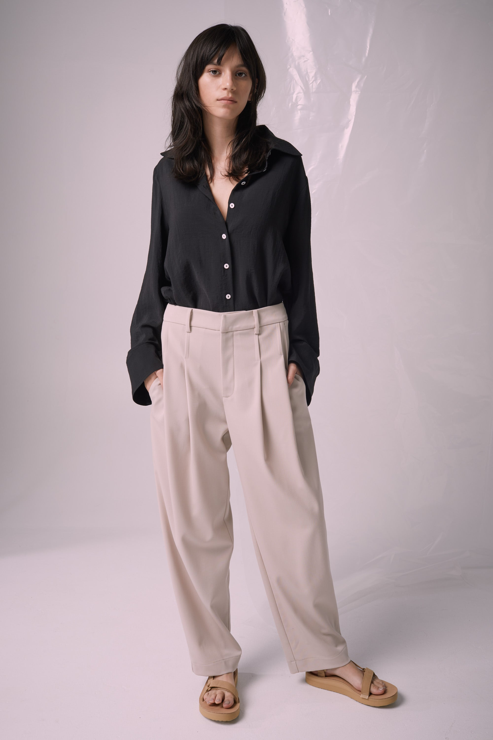 Ricochet NZ Fashion Designer Clothing Boutique SS19  Made in NZ Sapporo Pant Beige