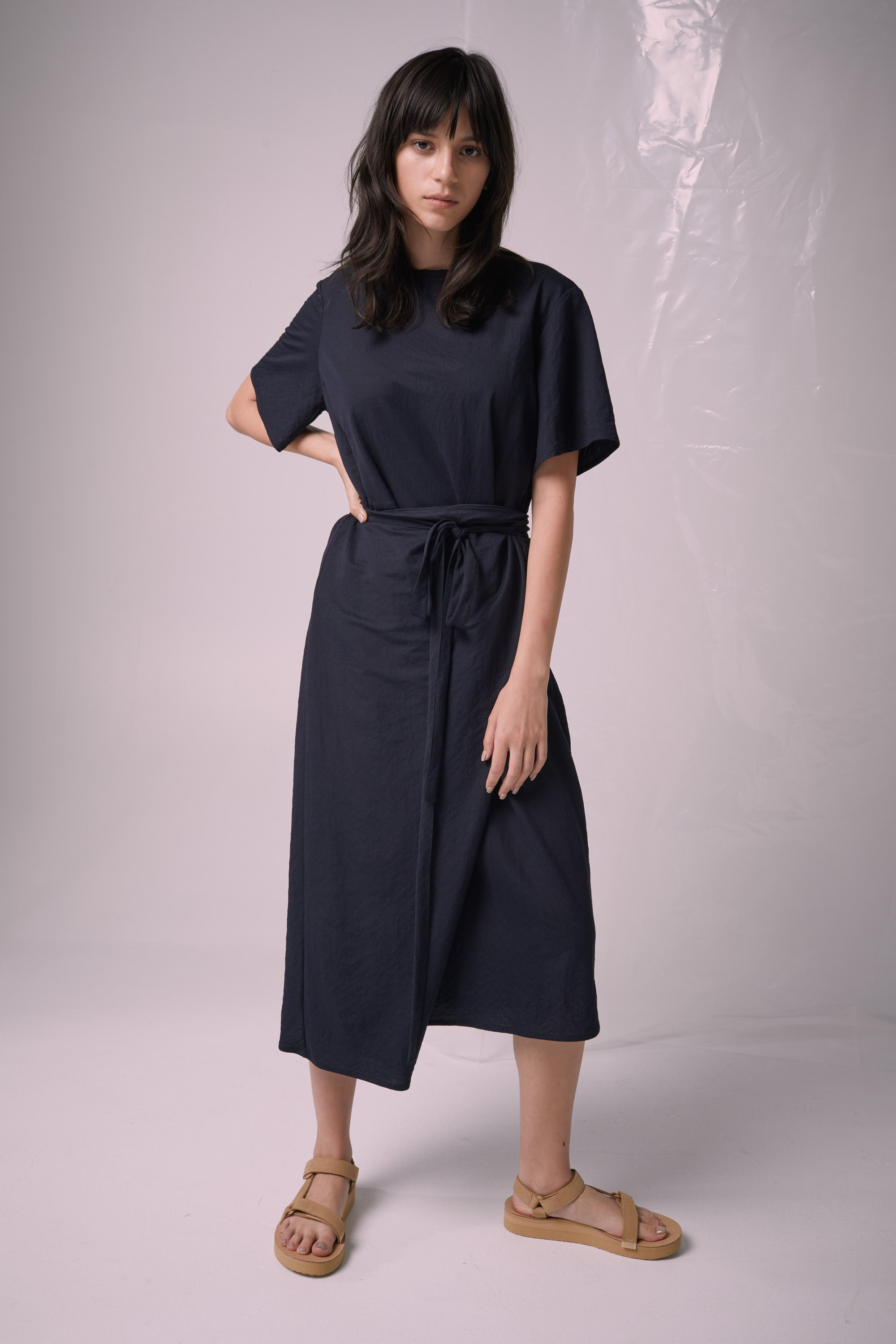 Ricochet NZ Fashion Designer Clothing Boutique SS19  Made in NZ Jil Dress Navy