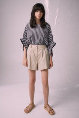 Ricochet NZ Fashion Designer Clothing Boutique SS19  Made in NZ Julia Top Black And White Stripe