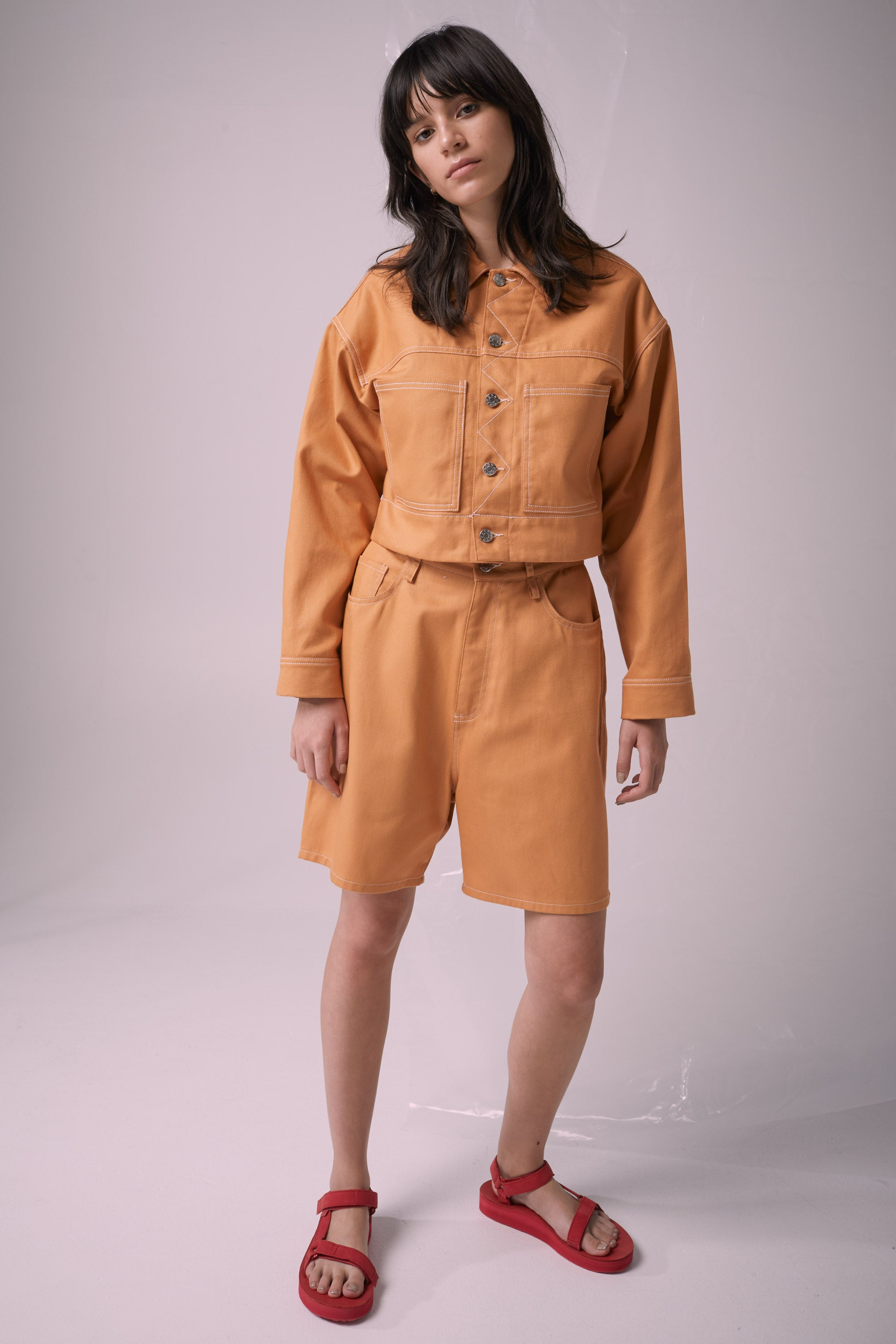 Ricochet NZ Fashion Designer Clothing Boutique SS19  Made in NZ Modern Talking Jacket Apricot