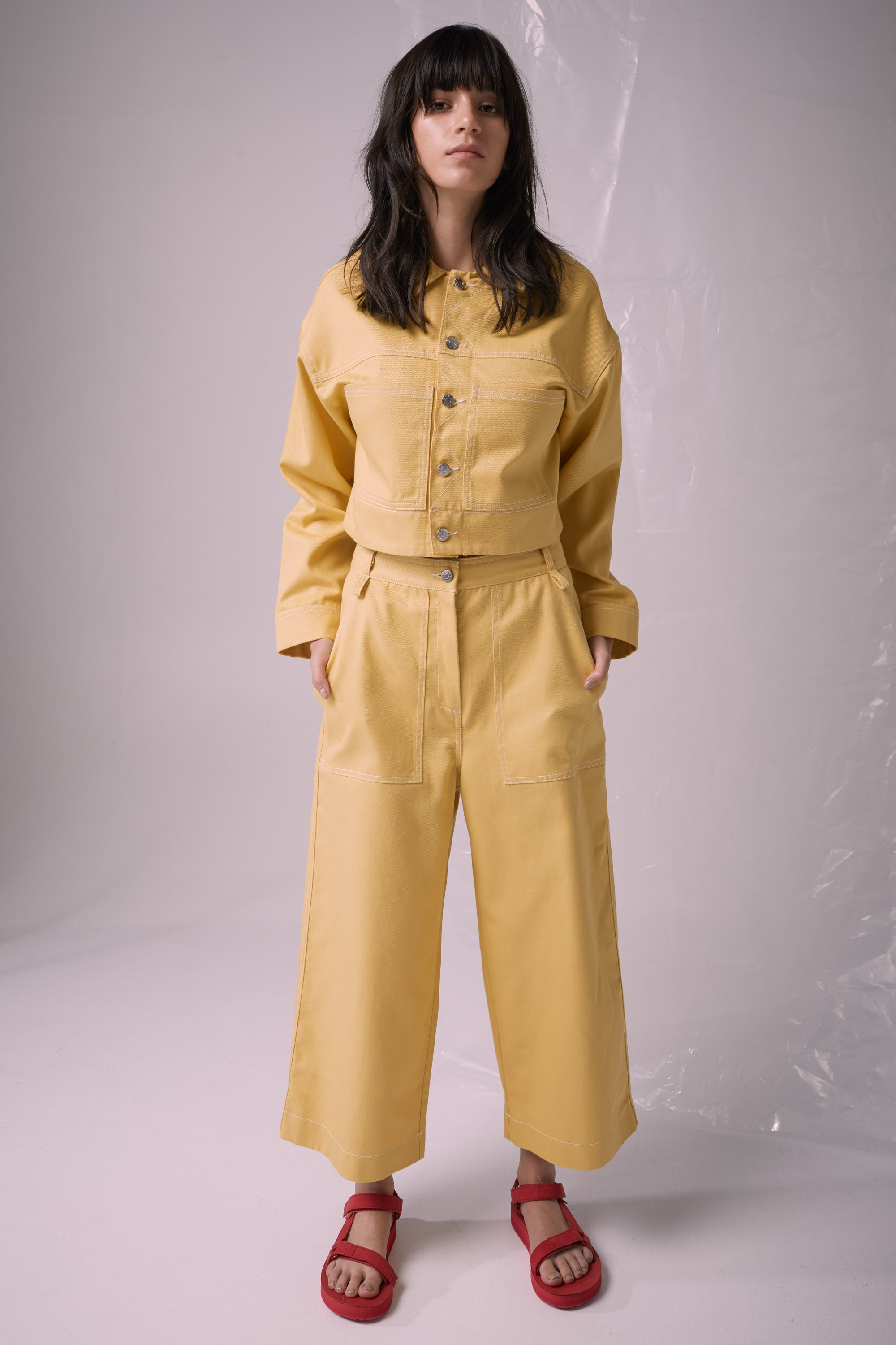 Ricochet NZ Fashion Designer Clothing Boutique SS19  Made in NZ Modern Talking Pant Sunshine