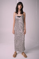 Ricochet NZ Fashion Designer Clothing Boutique SS19  Made in NZ Niko Dress Ivory/Black Print