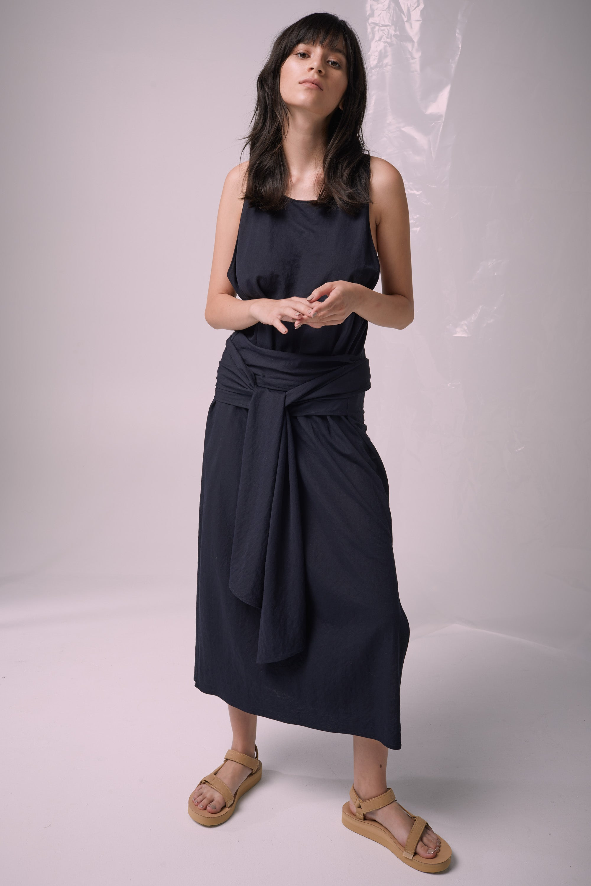 Ricochet NZ Fashion Designer Clothing Boutique SS19  Made in NZ Numazu Dress Navy