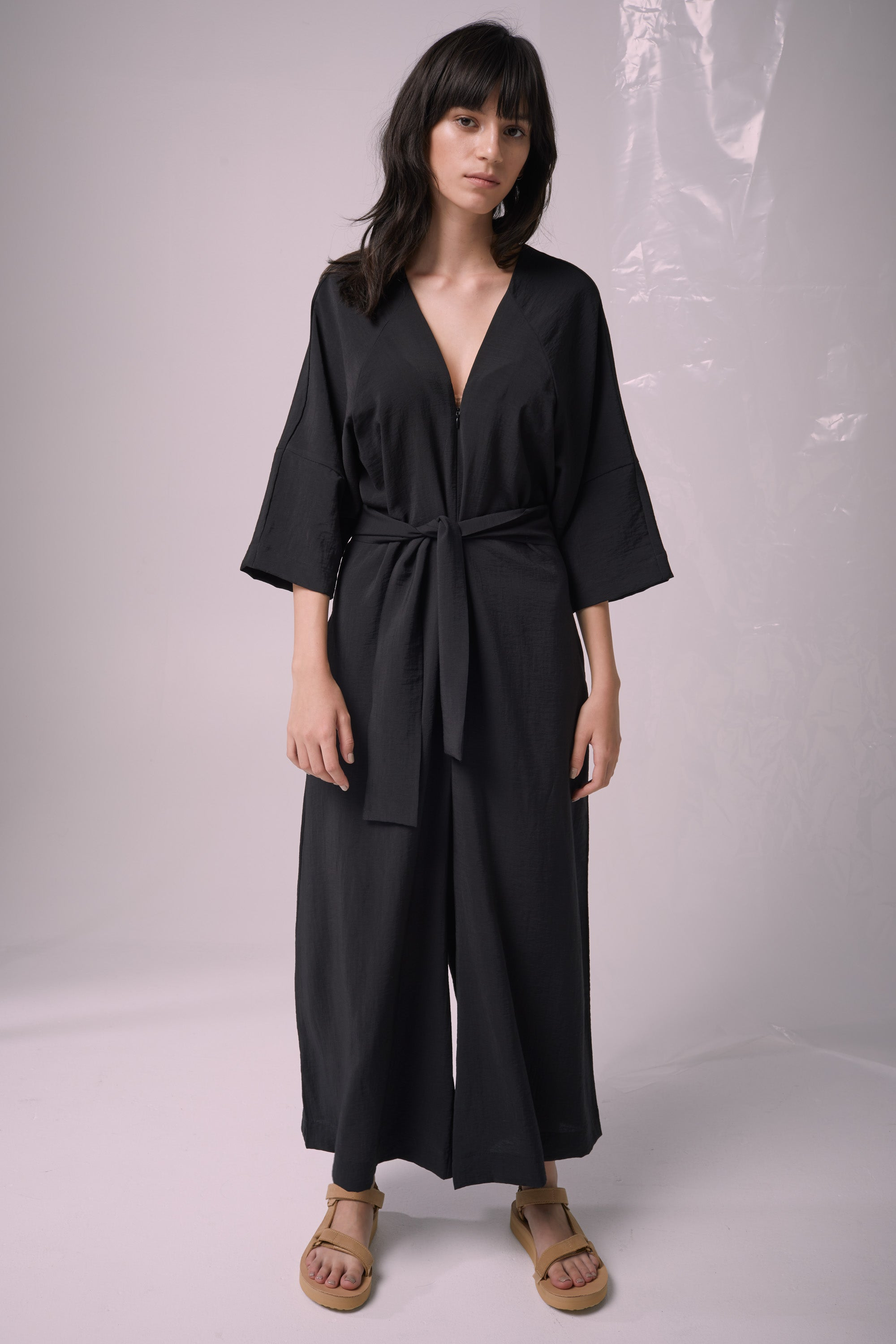 Ricochet NZ Fashion Designer Clothing Boutique SS19  Made in NZ Shell Shock Jumpsuit Black