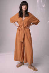 Shell Shock Jumpsuit Nutmeg