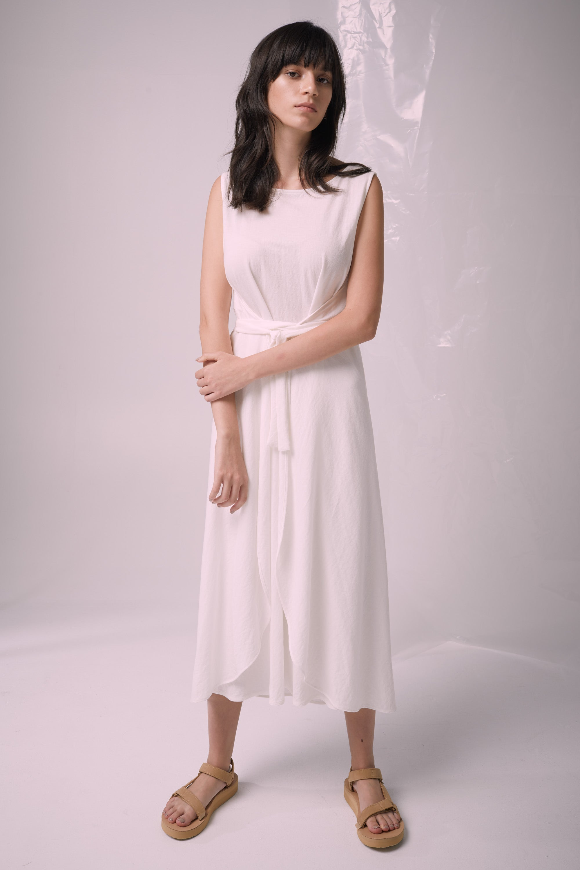 Ricochet NZ Fashion Designer Clothing Boutique SS19  Made in NZ Solo Dress Ivory