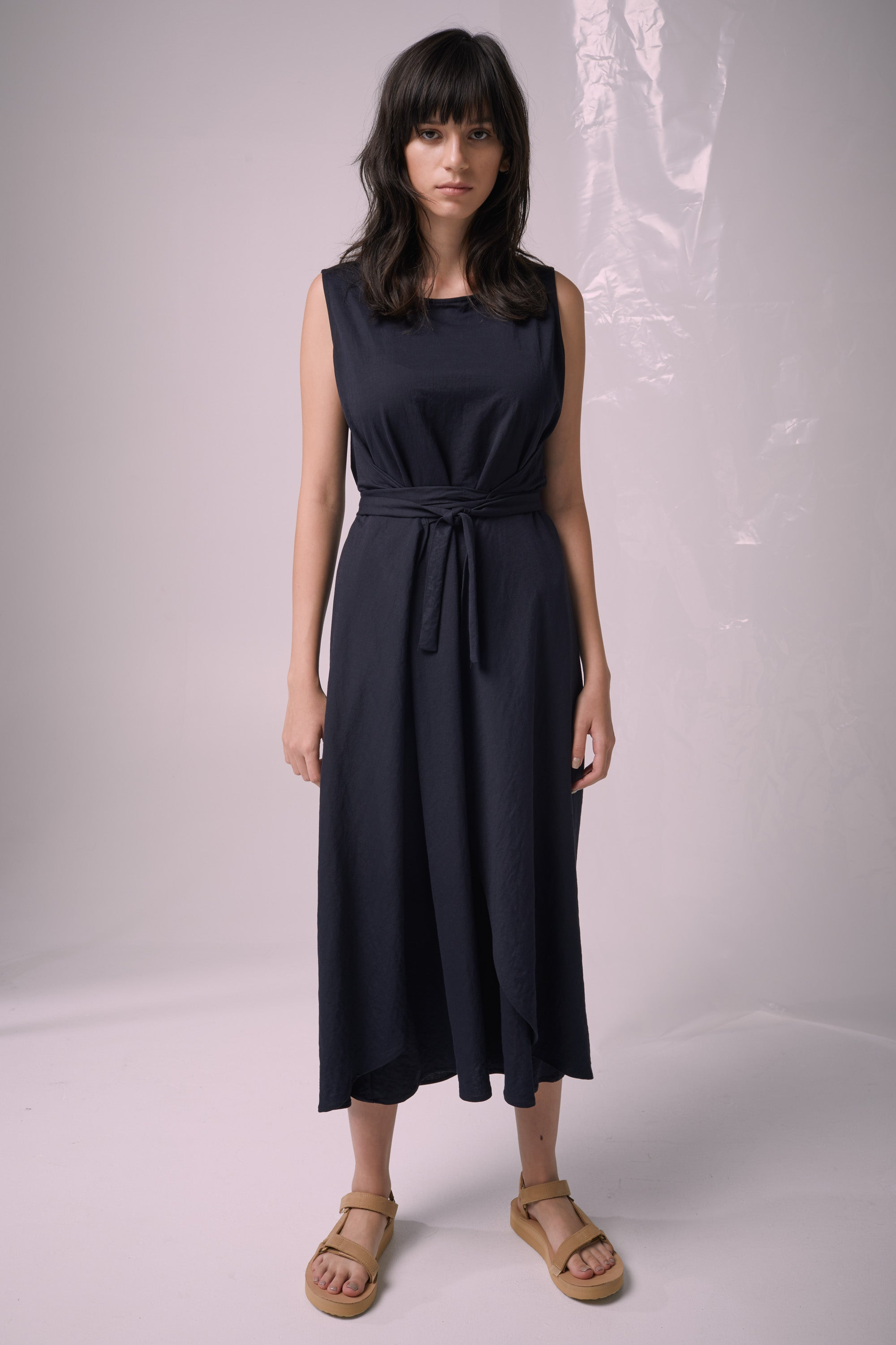 Ricochet NZ Fashion Designer Clothing Boutique SS19  Made in NZ Solo Dress Navy
