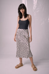 Ricochet NZ Fashion Designer Clothing Boutique SS19  Made in NZ Niko Skirt Ivory/Black Print