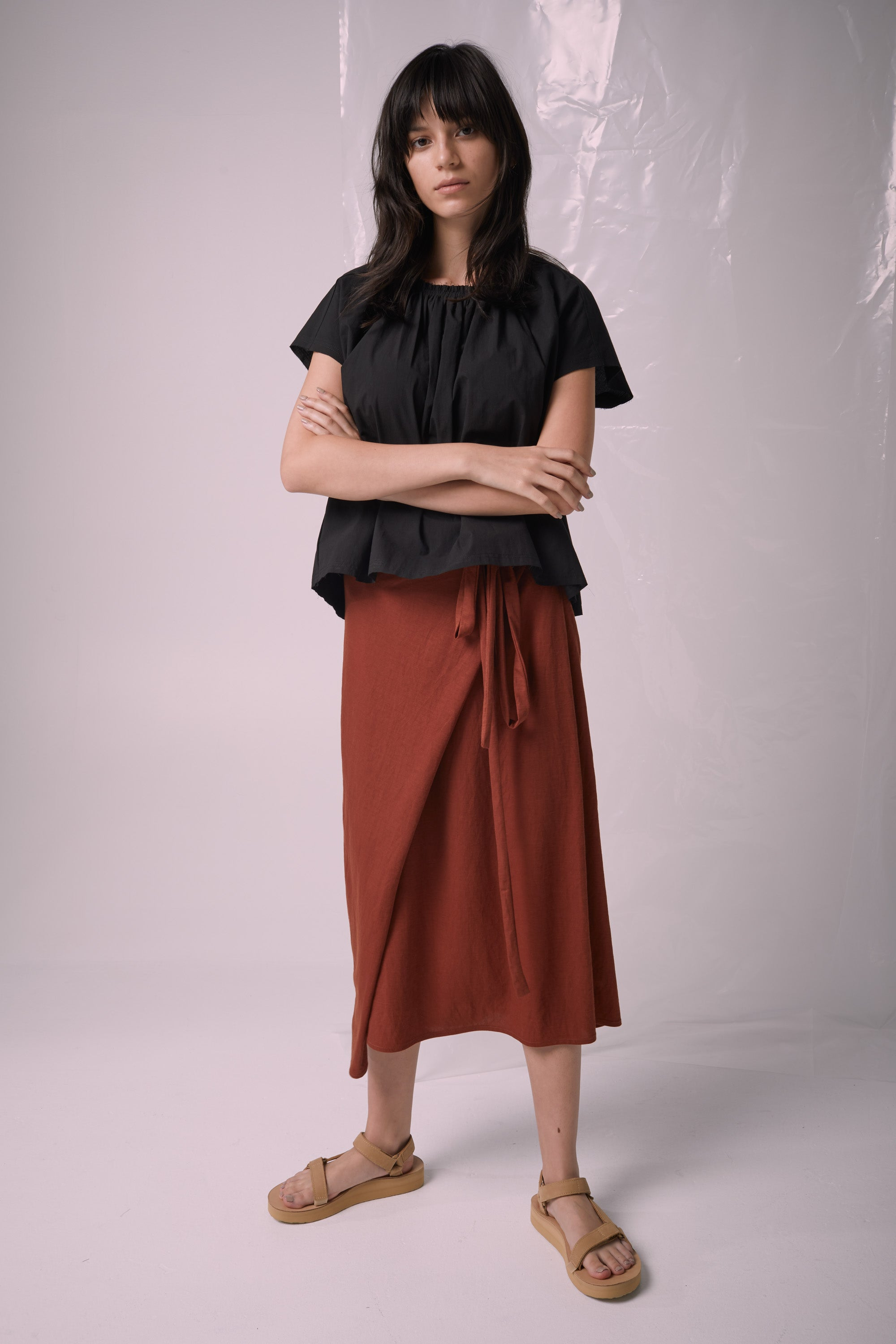 Ricochet NZ Fashion Designer Clothing SS19 Jil Skirt Wrap Front Long Ties Made in NZ