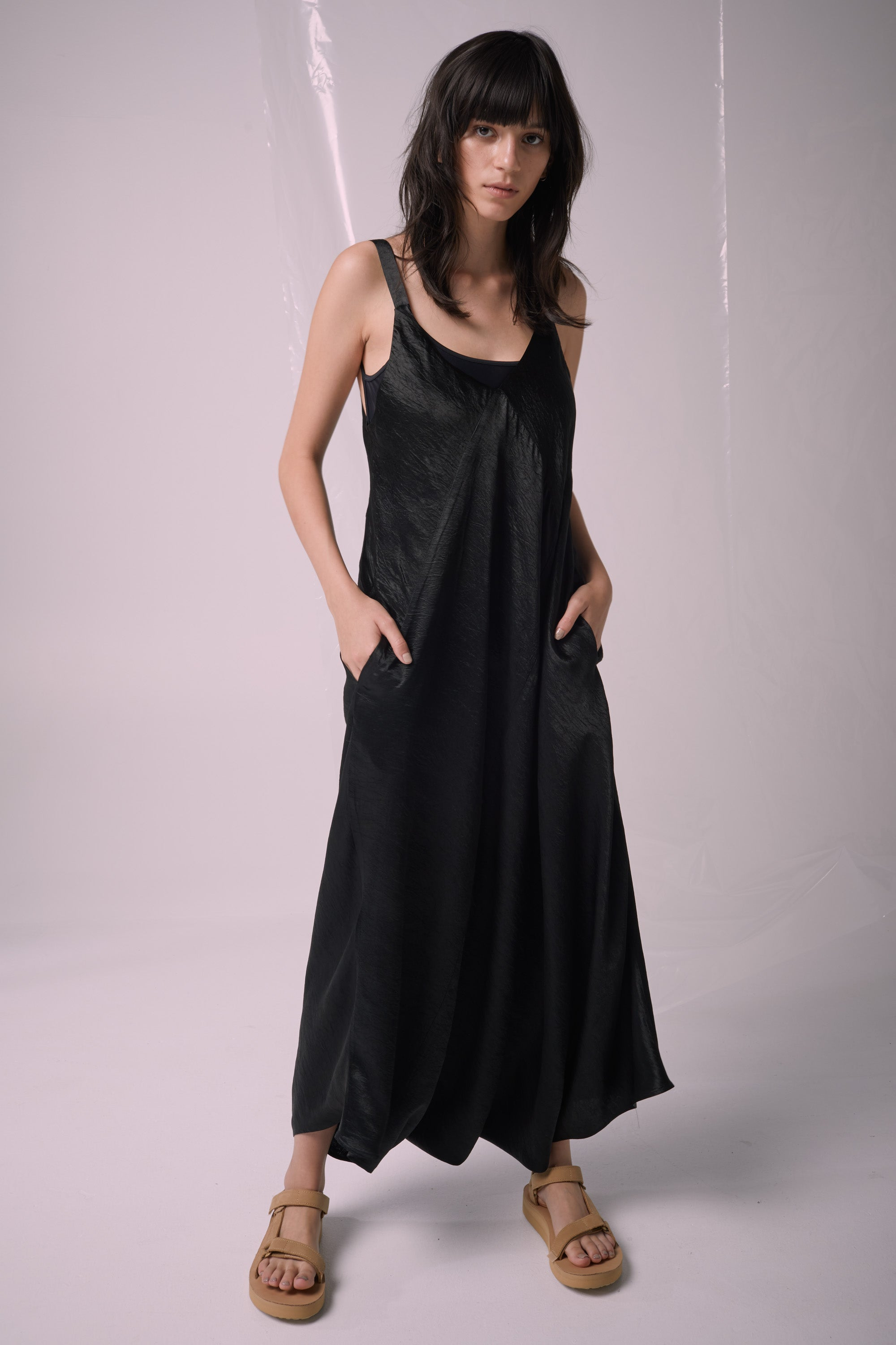 Ricochet NZ Fashion Designer Clothing Boutique SS19  Made in NZ Village Jumpsuit Black