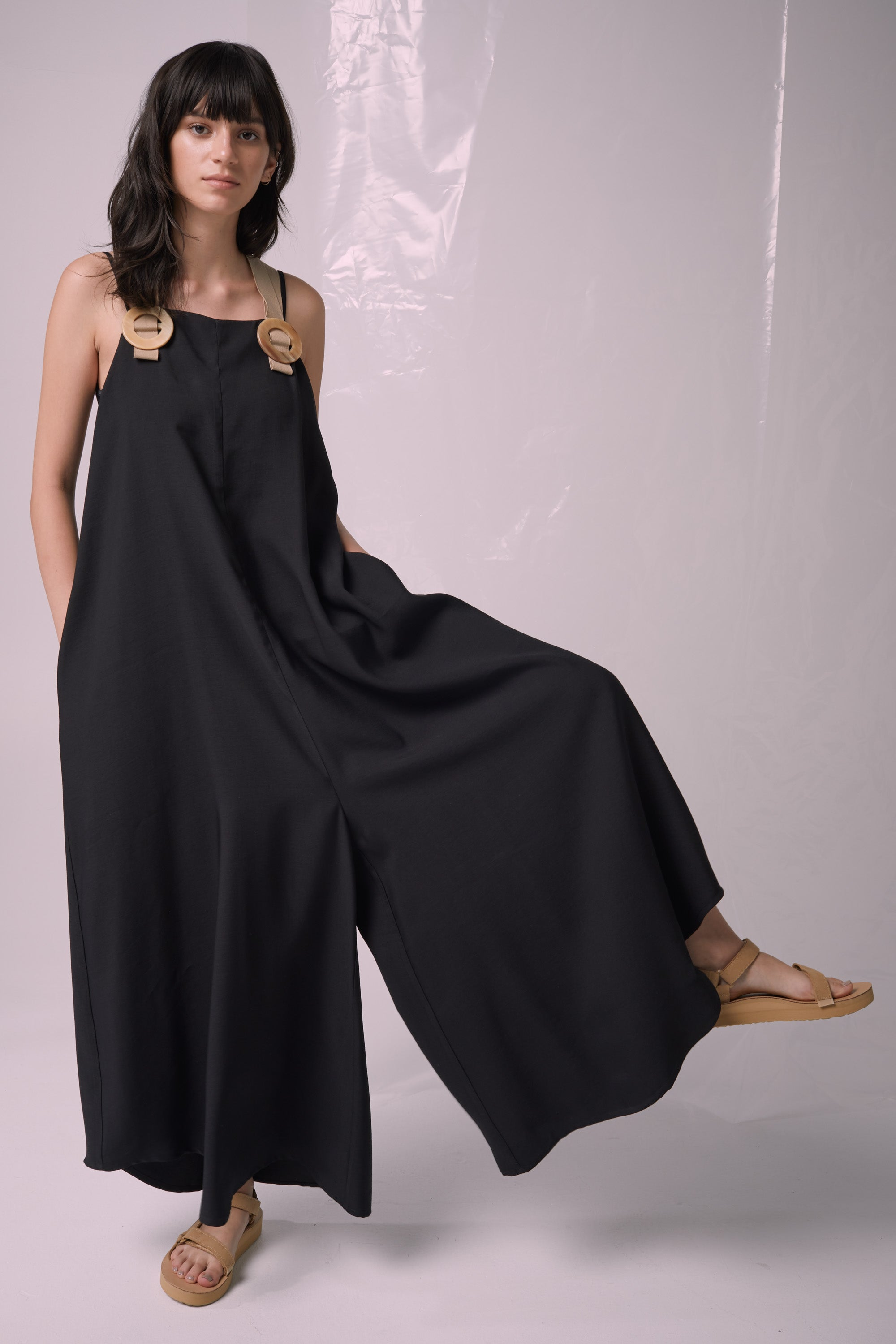Ricochet NZ Fashion Designer Clothing Boutique SS19  Made in NZ Whimsical Jumpsuit Black