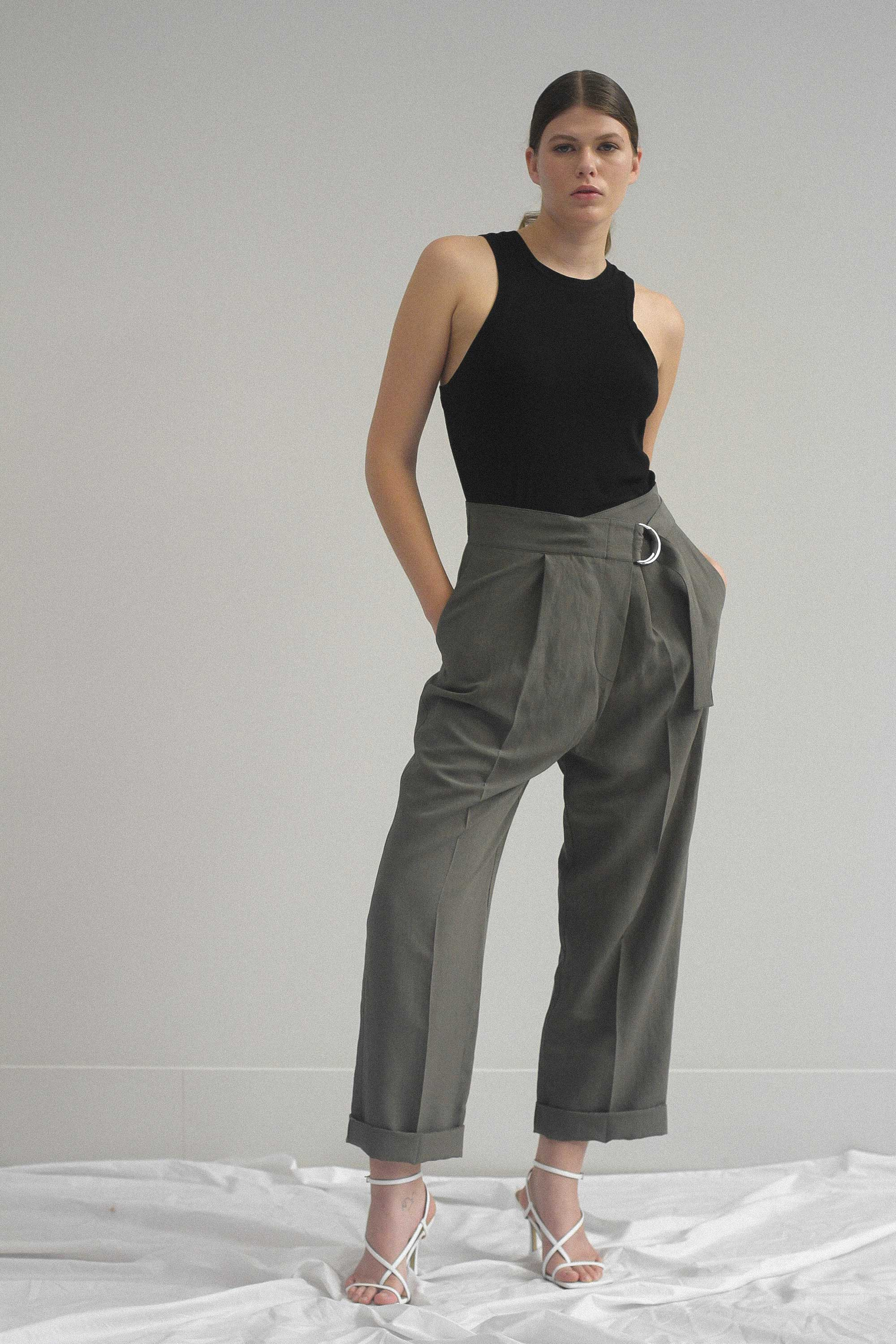 Barball Pant Khaki Ricochet SS20 Collection NZ Sustainable Fashion Design