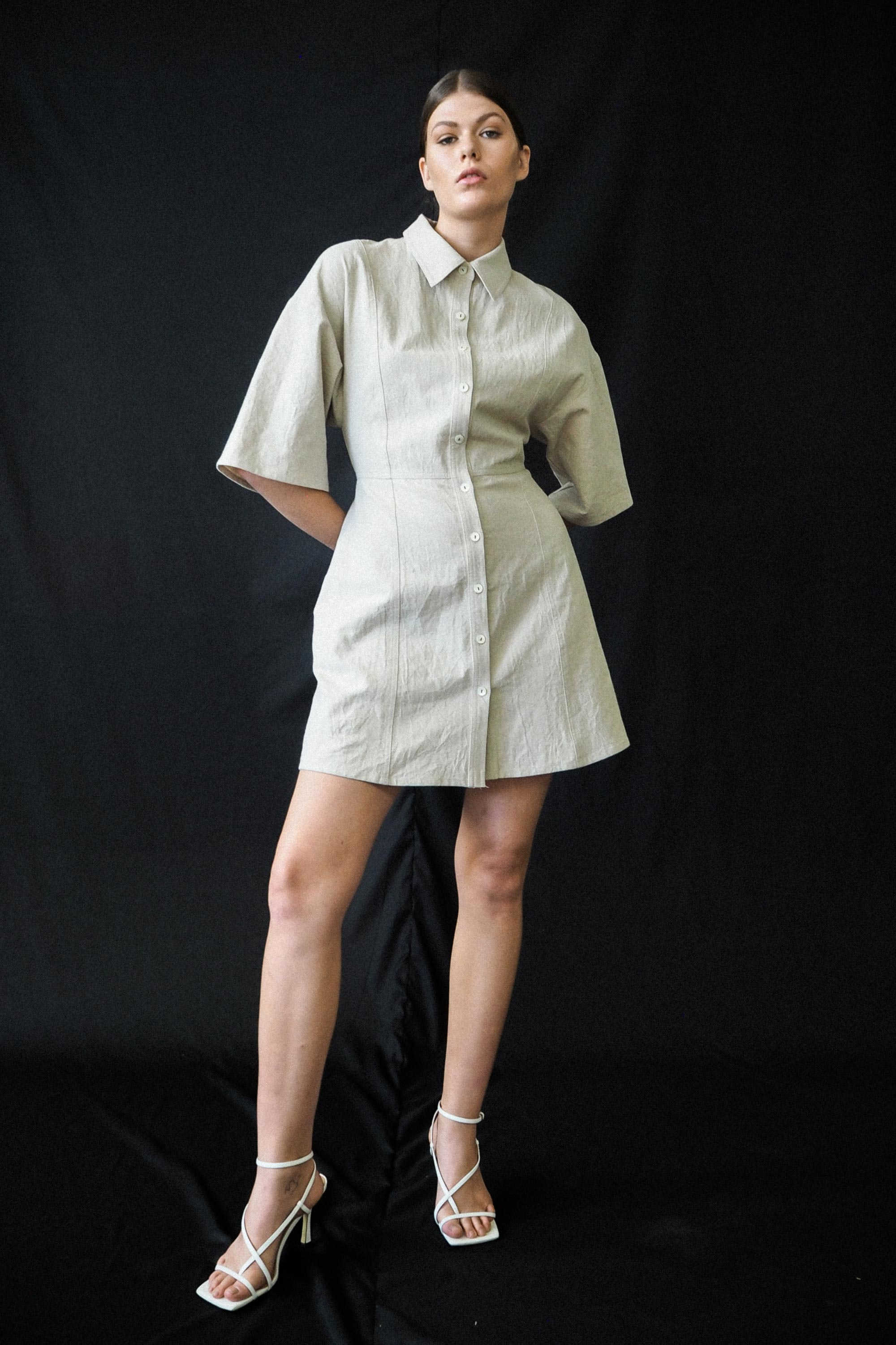 Istar Shirt Dress Ricochet SS20 Collection NZ Sustainable Fashion Desi…
