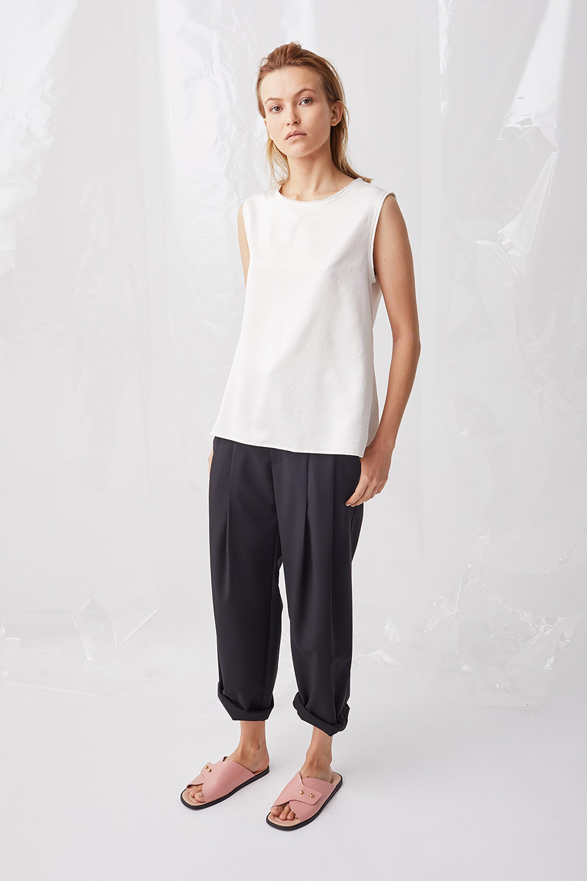 Ricochet NZ Fashion Designer Clothing Boutique SS18 Sapporo Pant Rolled Hem Made in NZ