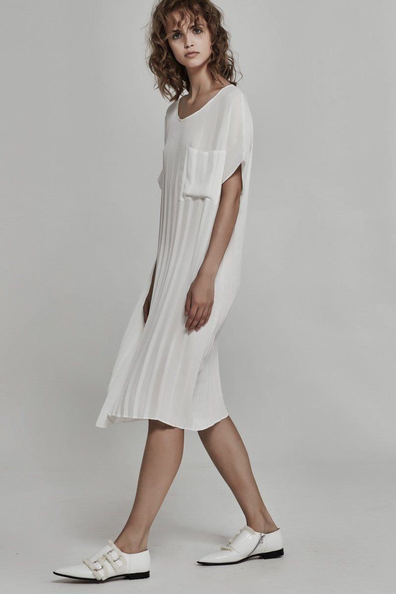 Ricochet-Clothing-SS16/17-NZ-Willow-Loose-Pleat-Dress