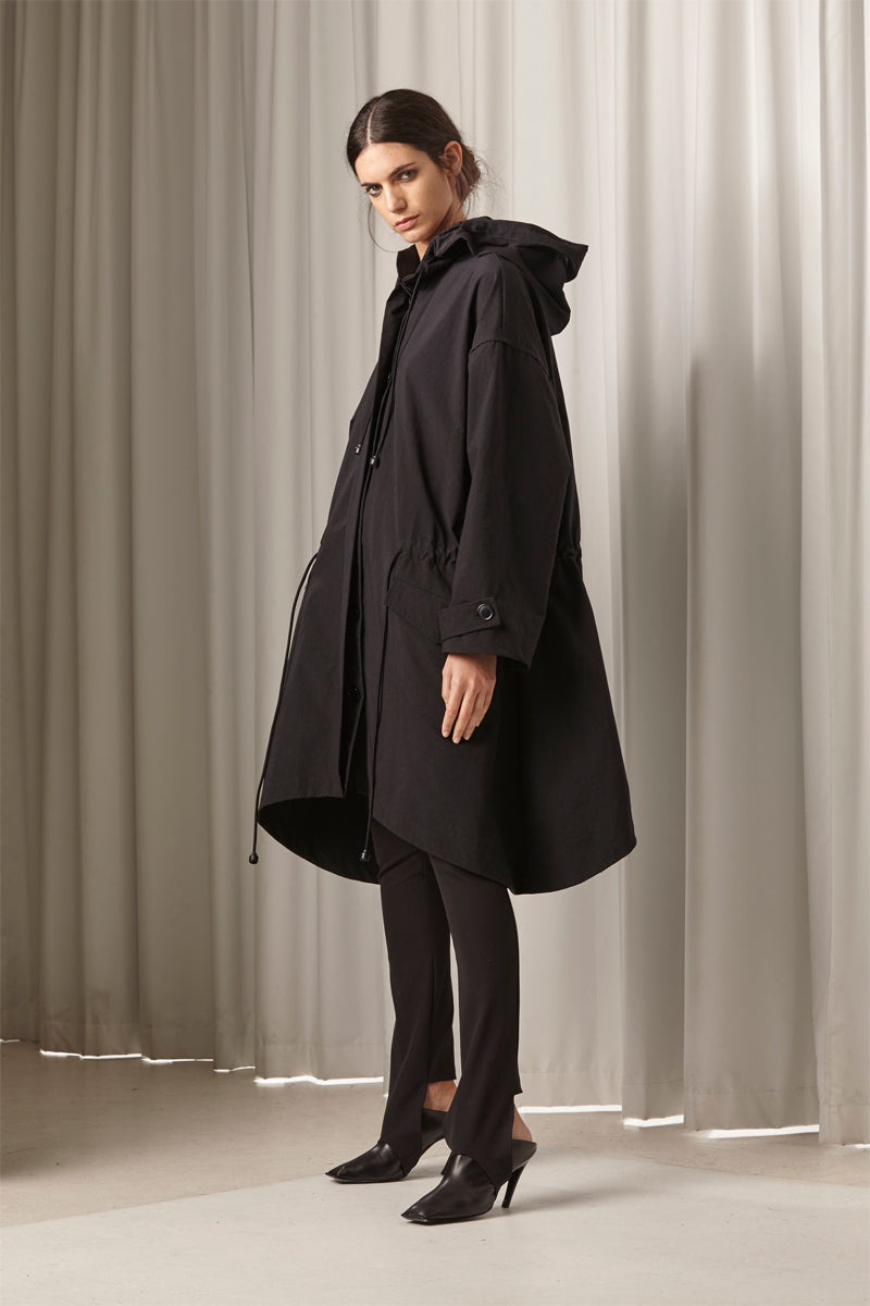 Ricochet NZ Fashion Designer Clothing AW18 Xander Cape Coat Rainproof Made in NZ