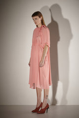 Ricochet NZ Fashion Designer Clothing SS17 Exclusive Reversible Watermelon Chiffon Gathered Sarah Dress Made in NZ
