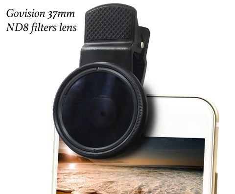 【AV008】Bomgogo 37mm ND8 Filter Lens, Professional Cell Phone Camera Neutral Density 8 Lens Kit