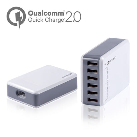 【CA004】6 ports USB Charger with Qualcomm® Quick Charge™ 2.0 Technology