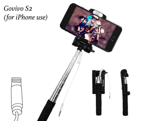 【SL005】Bomgogo Govivo S2 Wired Selfie Stick ( for iPhone use)