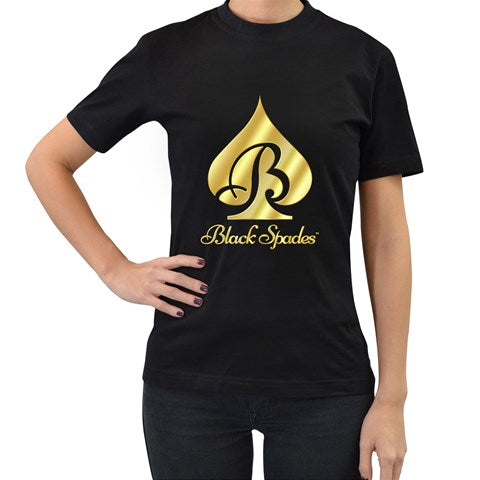 Black Spades Golden Graphic Logo Tee - Women