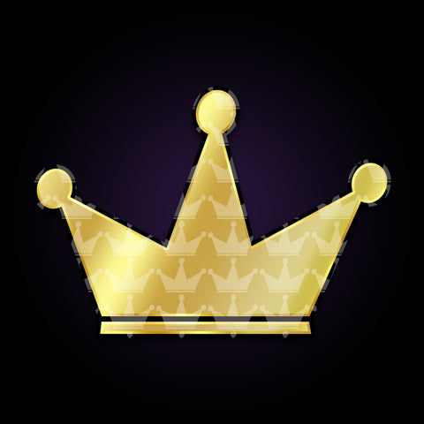 GOLD FOIL CROWN STICKER [+ GAMER PIC]