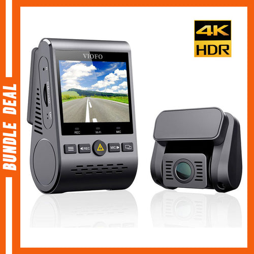 A129 PRO 4K DUO GPS Bundle [Hardwire Kit, 64GB SD Card]