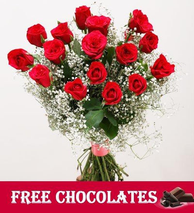 Forever - Rose Bouquet | FREE Chocolates flowers CityFlowersIndia
