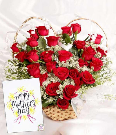 24 Red Roses Hearty Love flowers CityFlowersIndia