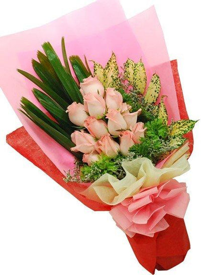 Exclusive Pink Bouquet (Special Packing) flowers CityFlowersIndia