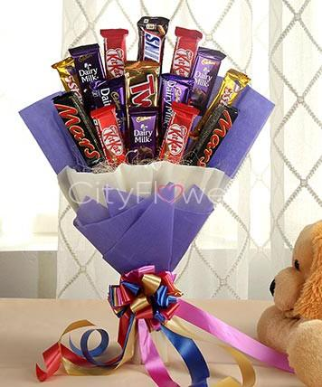 CHOCOLATE SKY BOUQUET flowers CityFlowersIndia