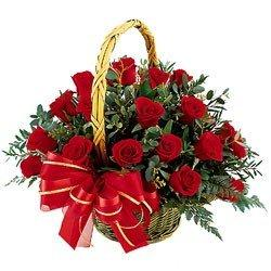 Red Rose Basket flowers CityFlowersIndia