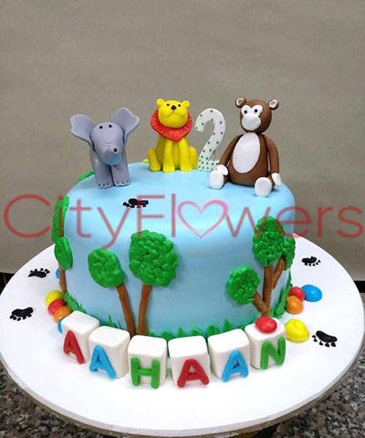 JUNGLE THEME CAKE flowers CityFlowersIndia