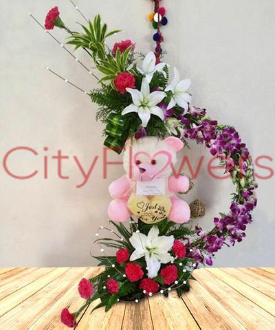 DECLARATION OF LASTING LOVE flowers CityFlowersIndia