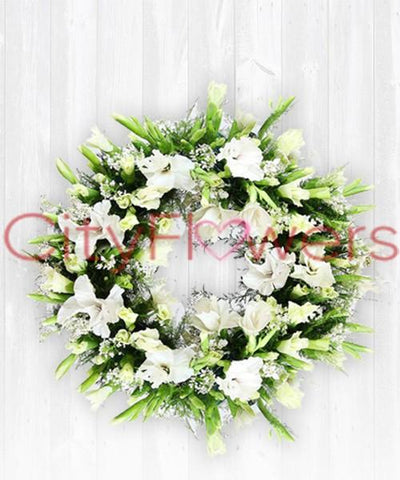 SLEEP IN PEACE CONDOLENCE flowers CityFlowersIndia