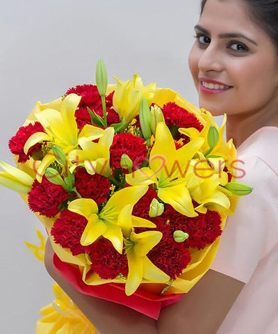 PRETTY WARM flowers CityFlowersIndia