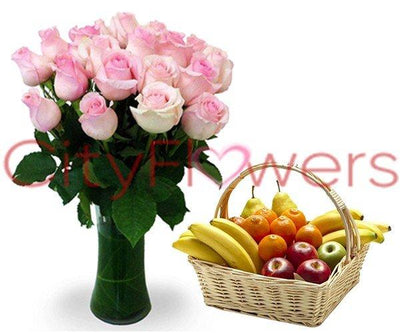 DELIGHTFUL FRUITS AND FLOWERS flowers CityFlowersIndia