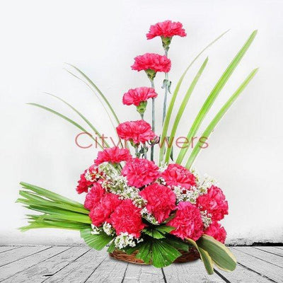 CARNATIONS BLUSH flowers CityFlowersIndia