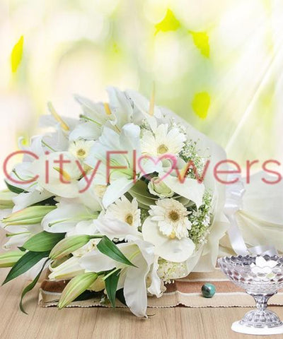 TIED IN LOVE flowers CityFlowersIndia