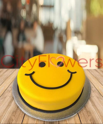 SMILEY CAKE flowers CityFlowersIndia