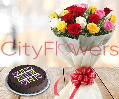 ENDLESS LOVE WITH CAKE flowers CityFlowersIndia