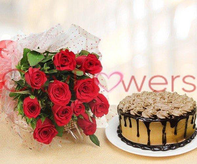 SWEET BLISS WITH CAKE flowers CityFlowersIndia