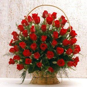 Delightful Bloom Basket flowers CityFlowersIndia