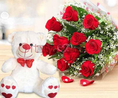 PURE LOVE N SWEET PAL COMBO flowers CityFlowersIndia