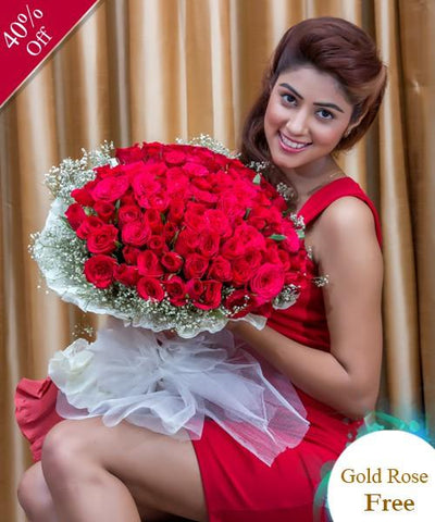 Love in the Air by City Flowers - Free Golden Rose flowers CityFlowersIndia