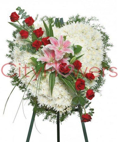 STRAIGHT FROM THE HEART flowers CityFlowersIndia