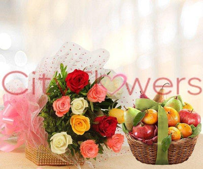 HEALTHY WISHES SURPRISE flowers CityFlowersIndia