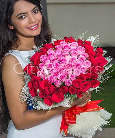 Bouquet of 50 Roses flowers CityFlowersIndia