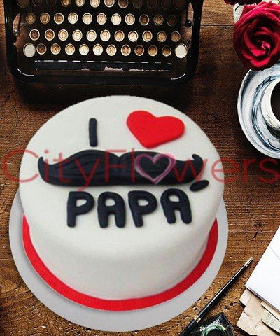 I LOVE YOU PAPA CAKE flowers CityFlowersIndia